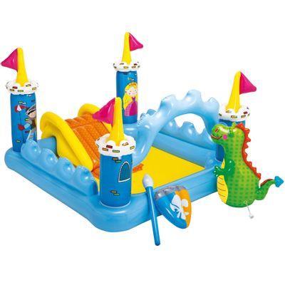 Piscina infl vel com playground castelinho e drag o for Piscinas toy