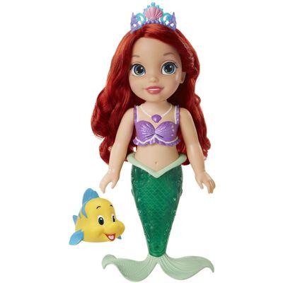 Boneca para Banho - Disney Princesas - Ariel com Luzes e Sons - New Toys