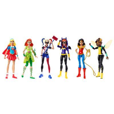 Conjunto com 6 Bonecas de Ação - DC Super Hero Girls - Mattel