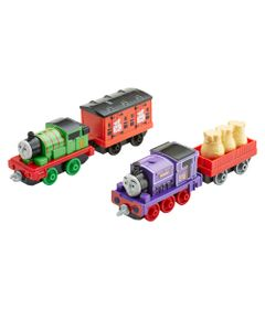 Conjunto-com-04-Locomotivas---Entrega-do-Percy---Thomas---Friends---Fisher-Price