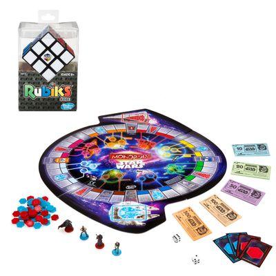 Kit-Jogo-Monopoly---Edicao-Especial-com-Mini-Figuras---Star-Wars---Epidodio-VII---Jogo-de-Raciocinio---Rubik-s-Cubo-Magico---Hasbro