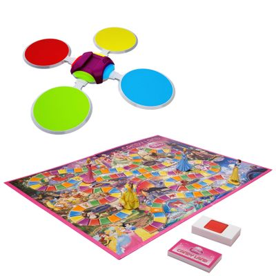 Kit-Twister-Moves---Hip-Hop-Spots---Jogo-Candy-Land-Princesas-Disney---Hasbro