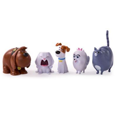 Pack 5 Figuras - 15 cm - Pets - A Vida Secreta dos Bichos - Buddy, Snowball, Max, Gidet e Chloe - Sunny