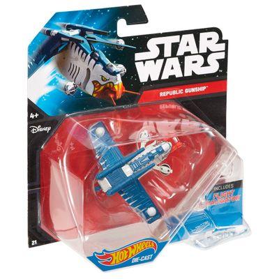 Nave-Star-Wars---Republic-Gunship----Hot-Wheels---Mattel