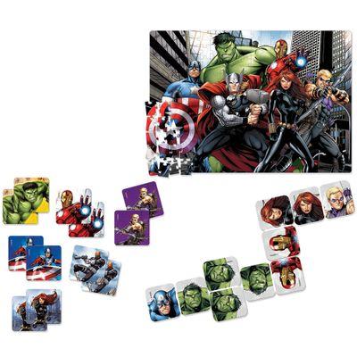 super-kit-avengers-quebra-cabeca-200-pecas-jogo-da-memoria-domino-toyster-disney