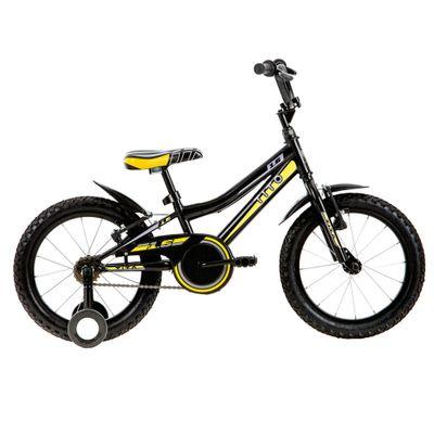 Bicicleta ARO 16 - MTB Volt 1.6 - Preta e Amarela - Tito Bikes
