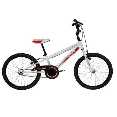 Bicicleta ARO 20 - MTB Volt 2.0 - Branca e Vermelha - Tito Bikes