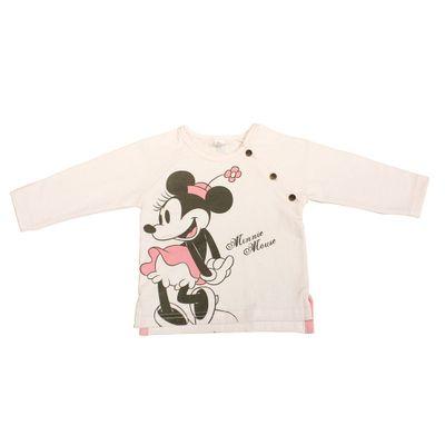 Blusa Manga Longa com Botões Laterais - Rosa - Minnie Candy Colors - Disney