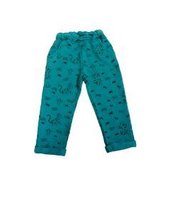 Calca-de-Moletom-com-Cadarco-Frontal-e-Barra-Dobrada---Verde---Winnie-The-Pooh---Tigrao---Disney
