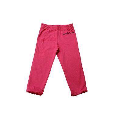 Calça Legging com Renda na Barra - Rosa - Minnie Pink - Disney