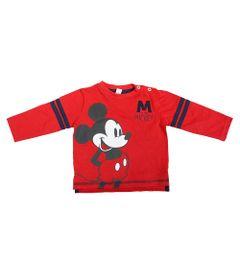 Camiseta-Manga-Longa-em-Meia-Malha---Vermelha-e-Marinho---Mickey-College---Disney---M