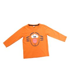Camiseta-Fantasia---Manga-Longa-em-Meia-Malha---Laranja---Winnie-The-Pooh---Tigrao---Disney