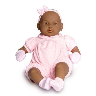Boneca - Bebê Real - 48 cm - Negra - Roma Jensen