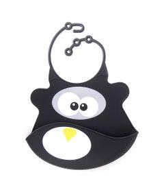Babador-de-Silicone---Babamonster---Pinguim---Preto---Tinok