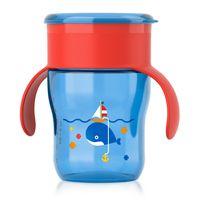 Copo-Natural---260-ml---Azul-com-Vermelho---Philips-Avent