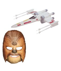 Kit-Mascara-Eletronica-Chewbacca-e-Nave-X-Wing-Fighter---Star-Wars-VII---Hasbro