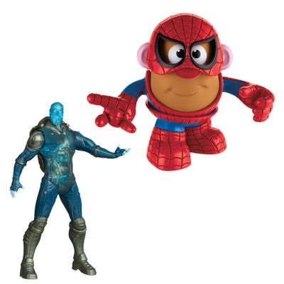 Kit Mini Figura Transformável - Mr. Potato Head Homem Aranha e Boneco Amazing Spider-Man - Electro - Marvel - Hasbro