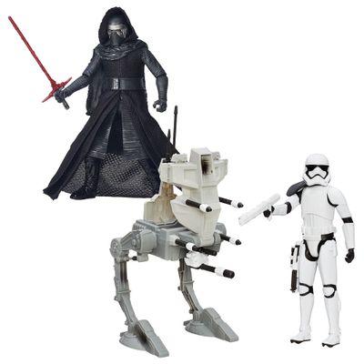 Kit-Figura-Colecionavel-Kylo-Ren-e-Boneco-com-veiculo-Assalt-Walker---Star-Wars---VII---Hasbro
