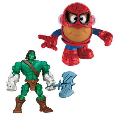 Kit-Boneco-Hero-Mashers-Skaar-e-Mini-Figura-Transformavel---Mr.-Potato-Head---Homem-Aranha---Marvel---Hasbro