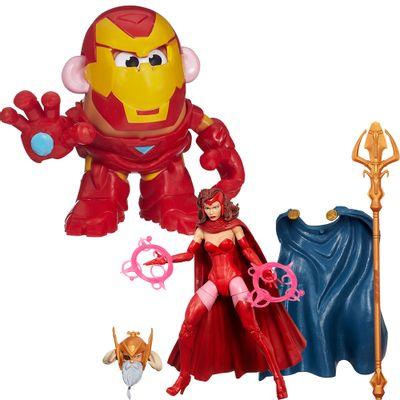 Kit-Boneco-Marvel-Legends-Capitain-Marvel-e-Mini-Figura-Mr.-Potato-Head---Iron-Man---Marvel---Hasbro