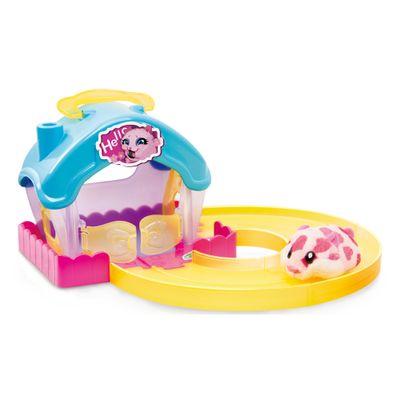 Playset Casa Hamster com Figura - Hamsters in a House - Azul e Amarelo - Candide - Payset Casa Hamster com Figura - Hamsters in a House - Azul e Amarelo - Candide