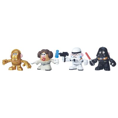Figura Mashups Playskool - Mr. Potato Head - Star Wars - C3PO, Darth Vader, Stormtrooper e Princesa Leia - Hasbro - Figuras Star Wars - Mash Up - C3PO, Darth Vader, Stormtrooper e Princesa Leia - Hasbro