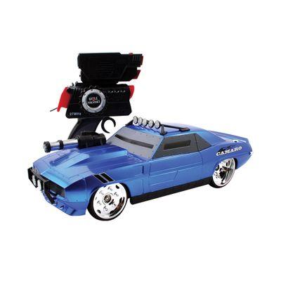 Carrinho de Controle Remoto - Battle Machines - Blue Camaro - Candide