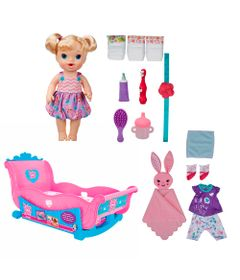 Conjunto-Boneca-e-Acessorios-Baby-Alive---Boneca-Bebe-Festa-do-Pijama---Hasbro-com-Bercinho---Cotiplas