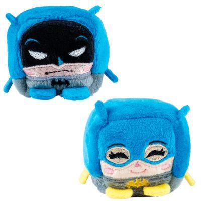 Conjunto com 2 Pelúcias - Cubomania 5 cm - DC Comics - Liga da Justiça - Batman e Batgirl - Candide
