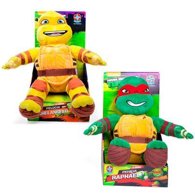 Conjunto-com-2-Pelucias---Tartarugas-Ninja-45-cm---Raphael-e-Michelangelo---Estrela