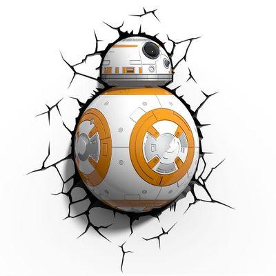 Luminária de Parede - 3D - Disney - Star Wars - Episódio VII - BB8 - Beek Geeks