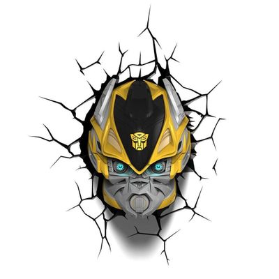 Luminária de Parede - 3D - Transformers - Bumblebee - Beek Geeks