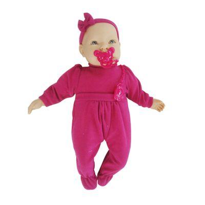 Boneca Baby By - Com Roupinhas - Macaquinho Pink - Roma Jensen