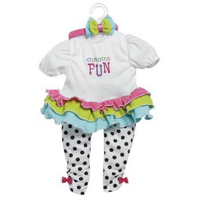 Roupa para Bonecas - Adora Doll - Macacão Branco - Circus Fun - Shiny Toys