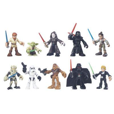 Bonecos Playset Playskool Com 10 Figuras Galactic Heroes Disney Star Wars Hasbro
