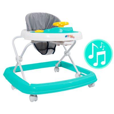 Andador Sonoro - Branco e Verde - Styll Baby