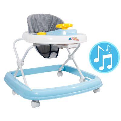 Andador Sonoro - Branco e Azul - Styll Baby