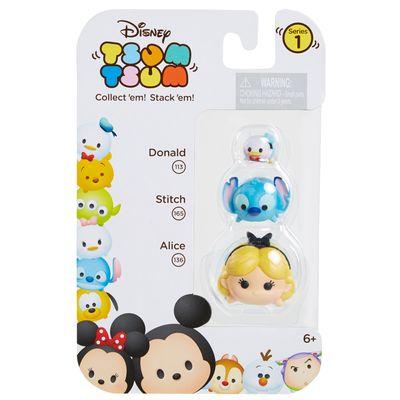 Conjunto Tsum Tsum 3 Figuras - Disney - Donald, Stitch e Alice - Estrela