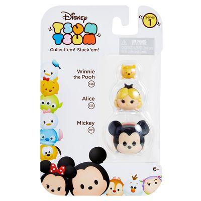 Conjunto Tsum Tsum 3 Figuras - Disney - Pooh, Alice e Mickey - Estrela
