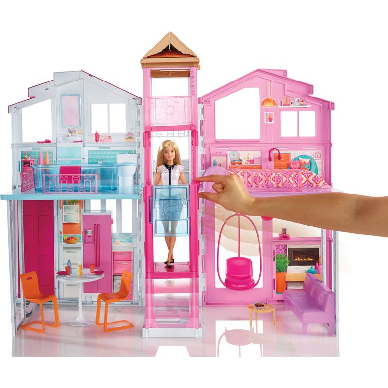 Nova real super casa da barbie 3 andares elevador mattel - Supercasa de barbie ...