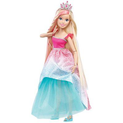 Boneca Barbie - Minha Grande Princesa - Penteados Mágicos - Mattel