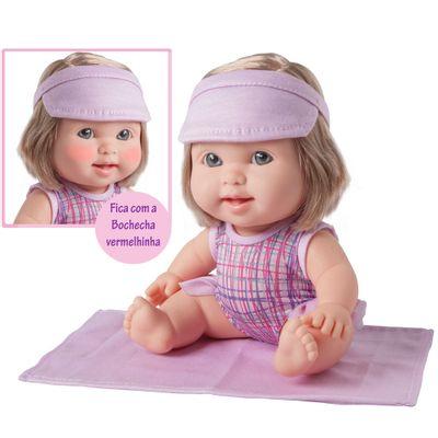 Boneca Bebê - Betsy Doll - Um dia na Praia - Rosa - Toma Sol e Fica Vermelhinha - Candide
