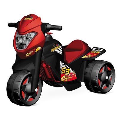 Moto Elétrica 6V - Motoban - Preto e Vermelho - Bandeirante