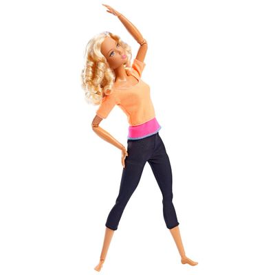 Boneca Barbie Articulada - Feita para Mexer - Blusa Laranja - Mattel