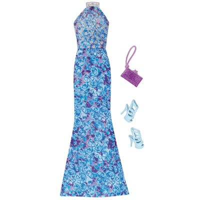 Roupinha Para Bonecas Barbie Vestido De Gala Azul