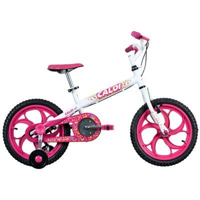 Bicicleta ARO 16 - Ceci - Rosa e Branca - Caloi