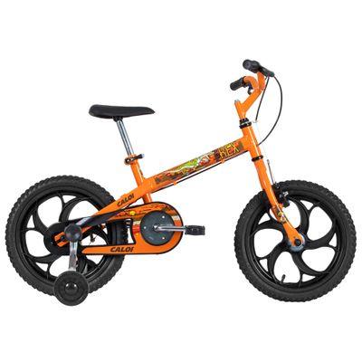 Bicicleta ARO 16 - Power Rex - Laranja - Caloi