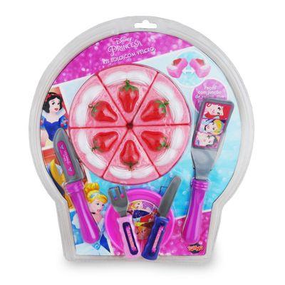 Conjunto Comidinha com Velcro - Bolo - Princesas Disney - Toyng - Conjunto Comidinha - Bolo - Princesas Disney - Toyng