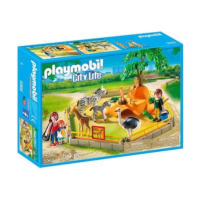 Playmobil - Playset Animais Silvestres no Cercado - 5968 - Sunny