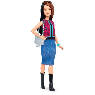 Boneca Barbie Fashionista - 41 Pretty in Paisley Doll - Petite - Mattel